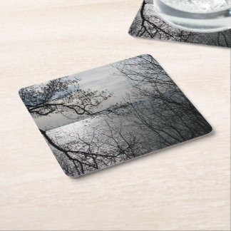 Peaceful Overlook Square Paper Coaster
