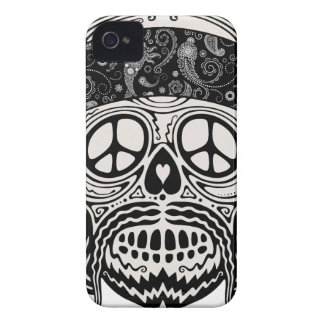 Peaceful Paisley Skull Case-Mate iPhone 4 Cases