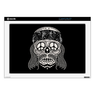 Peaceful Paisley Skull Laptop Decal