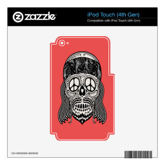 Peaceful Paisley Skull Skin For iPod Touch 4G