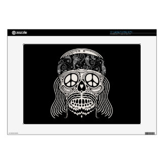 """Peaceful Paisley Skull Decals For 15"""" Laptops"""