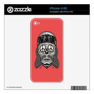 Peaceful Paisley Skull iPhone 4 Skin