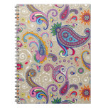 Peaceful Paisley Spiral Note Book