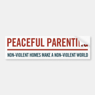 Peaceful Parenting Bumper Sticker