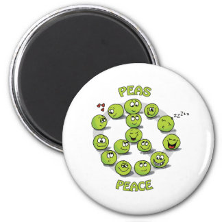 Peaceful Peace 2 Inch Round Magnet