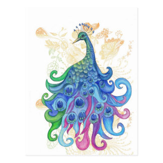 Peaceful Peacock Products Postcard