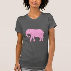 Peaceful Pink Elephant Walking