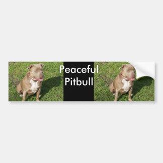 Peaceful Pitbull Bumper Sticker