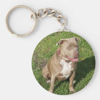 Peaceful Pitbull Keychain