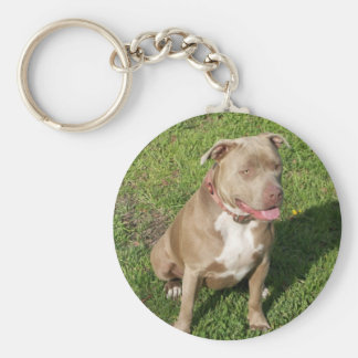 Peaceful Pitbull Key Chain