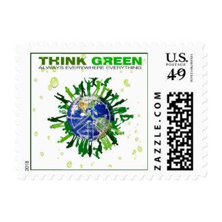 Peaceful Planet: Think Green Postage