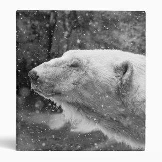 Peaceful Polar Bear 3 Ring Binder