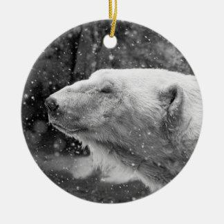Peaceful Polar Bear Ceramic Ornament