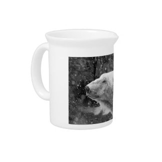 Peaceful Polar Bear Drink Pitchers