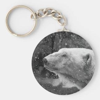 Peaceful Polar Bear Keychain