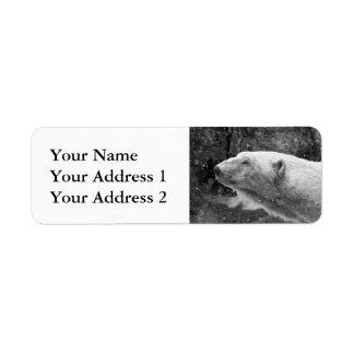 Peaceful Polar Bear Label