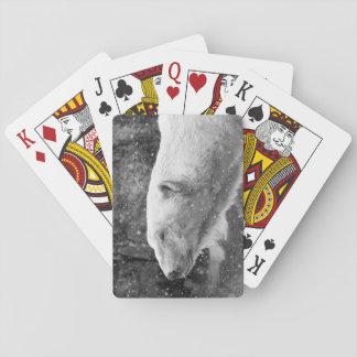 Peaceful Polar Bear Playing Cards