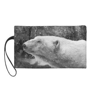 Peaceful Polar Bear Wristlet Purse