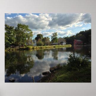 Peaceful Pond, Clinton, NJ Poster