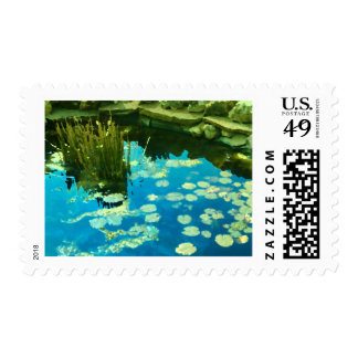 Peaceful Pond Postage Stamps