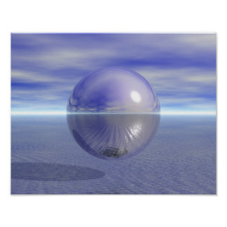 Peaceful Purple Planet Ocean Love Peace Harmony Poster