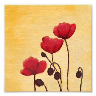 Peaceful Red Poppies Print