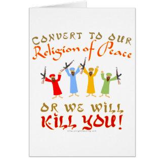Peaceful Religion Card