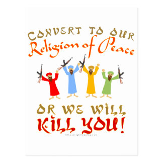 Peaceful Religion Postcard