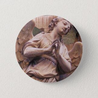 Peaceful Renaissance Angel Button