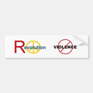 Peaceful Revolution - No Violence Bumper Stickers