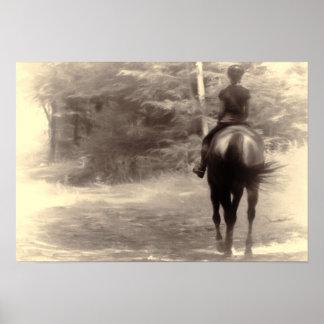 PEACEFUL RIDE 13x19 Canvas Print