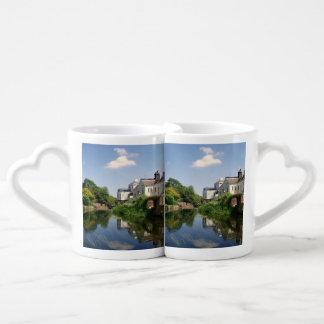 Peaceful River Scene Lovers Mug Sets