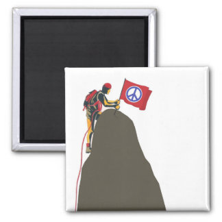 peaceful rock climber 2 inch square magnet