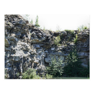 Peaceful Rock Quarry Nature Photography Postcard