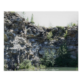 Peaceful Rock Quarry Nature Photography Print