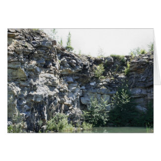 Peaceful Rock Quarry Wall Nature Card