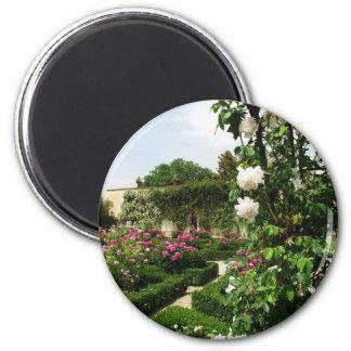 Peaceful Rose Garden 2 Inch Round Magnet