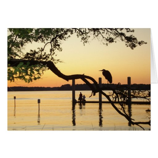 Peaceful Scenery Notecard from Hilton Head Island