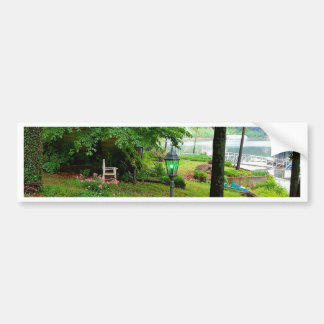 Peaceful Scenic Lakefront View Bumper Sticker