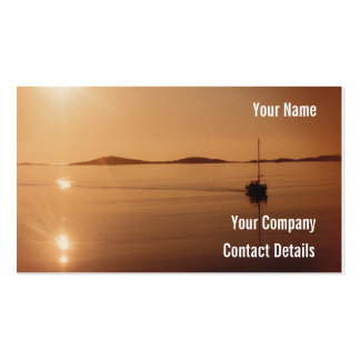 Peaceful Scilly Isles Sunset Cornwall England Card Double-Sided Standard Business Cards (Pack Of 100)
