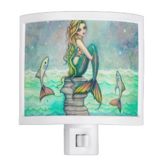 Peaceful Sea Mermaid Fantasy Art Night Light