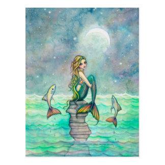 Peaceful Sea Mermaid Fantasy Art Postcards