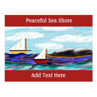 """Peaceful Sea Shore"" Postcard"