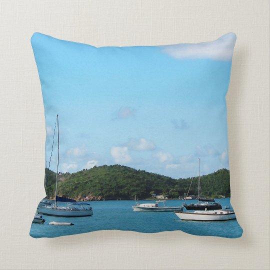 Peaceful Sea St. Thomas Throw Pillow