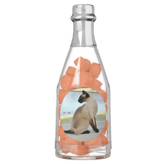Peaceful Siamese Cat Painting Chewing Gum Favors