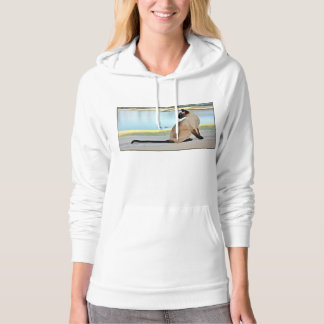 Peaceful Siamese Cat Painting Hoodie