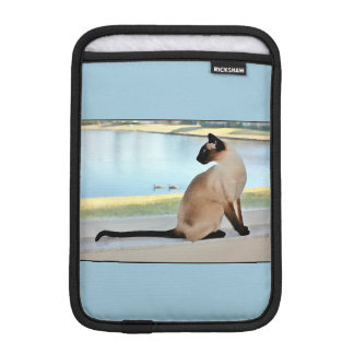 Peaceful Siamese Cat Painting iPad Mini Sleeve