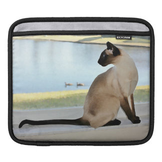 Peaceful Siamese Cat Painting iPad Sleeve