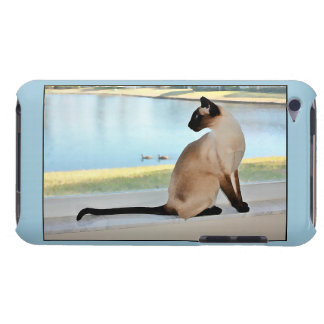 Peaceful Siamese Cat Painting iPod Case-Mate Case