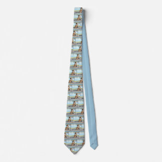 Peaceful Siamese Cat Painting Neck Tie